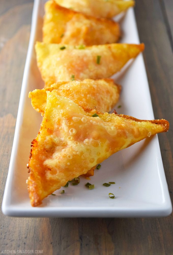 Buffalo Chicken Rangoons are one of our favorite football food recipes