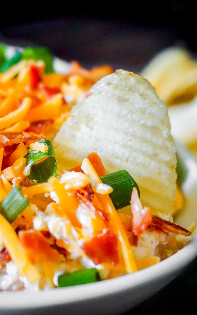 Potato Dip makes a tasty football game food