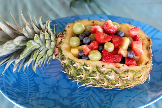 A fruit bowl makes a perfect side for the Moana birthday cake