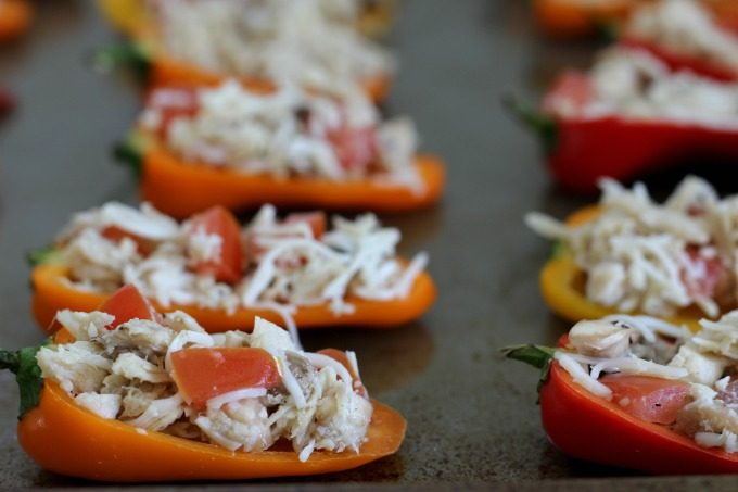 Bake your Sweet Pepper Tuna Poppers for 10 minutes