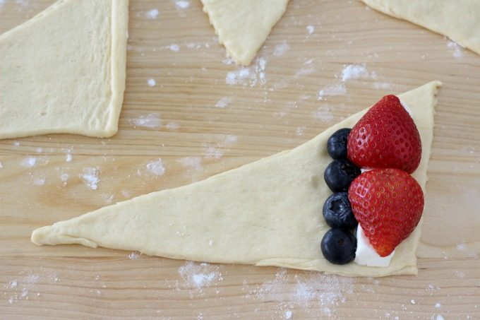 Add blueberries for more delicious Cheese and Berry Stuffed Crescent Rolls