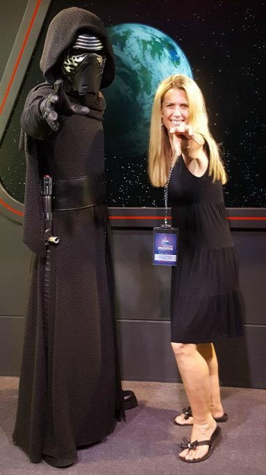 Hanging out with Kylo Ren at the Disney Social Media Mom's Celebration 2017