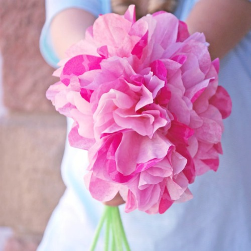 Mother's Day crafts - coffee filter flowers