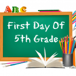 5th grade first day of school signs