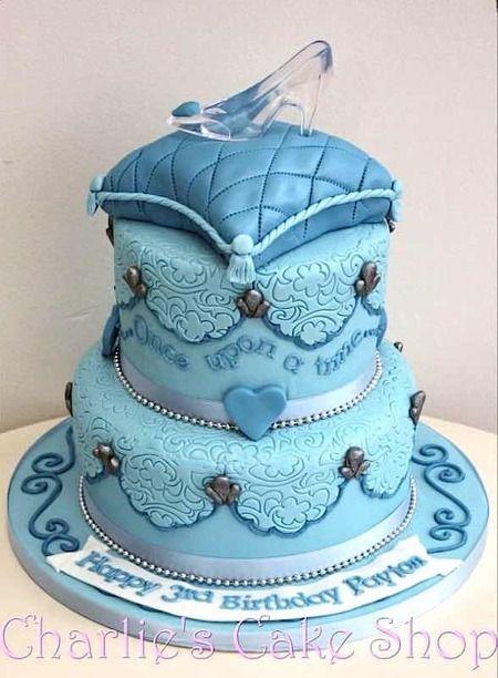 Disney princess cakes glass slipper