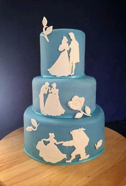 Disney silhouette cake