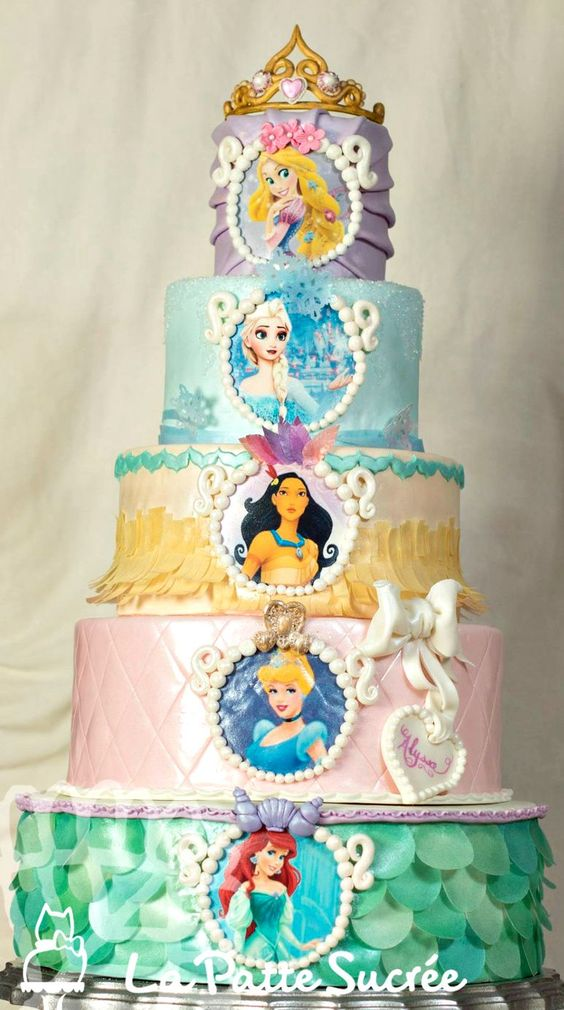 Disney princess cakes tiered