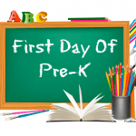 Pre-K first day of school signs