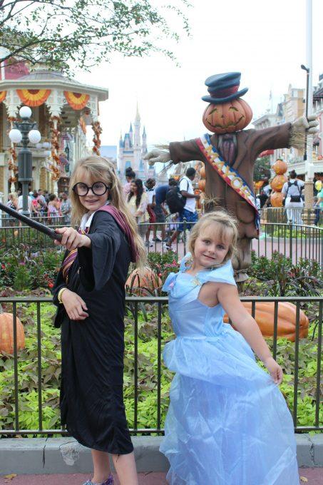 My girls had fun wearing their Halloween costumes