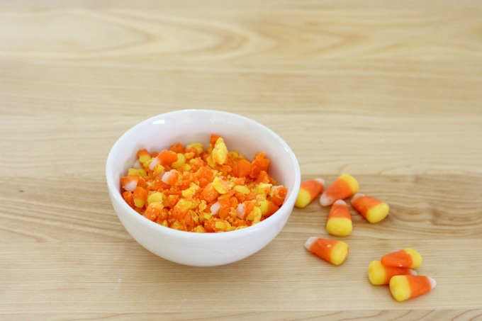 You'll need to crush the candy for your candy corn pretzels