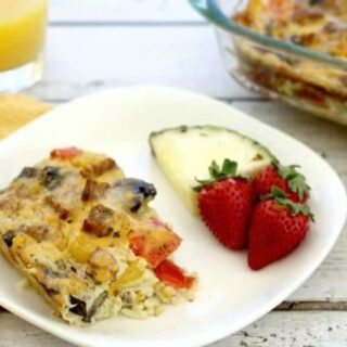 Breakfast Casserole With Sausage, Onions And Peppers