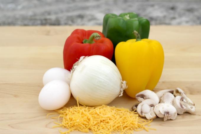This Fajita Breakfast Casserole contains lots of fresh veggies.