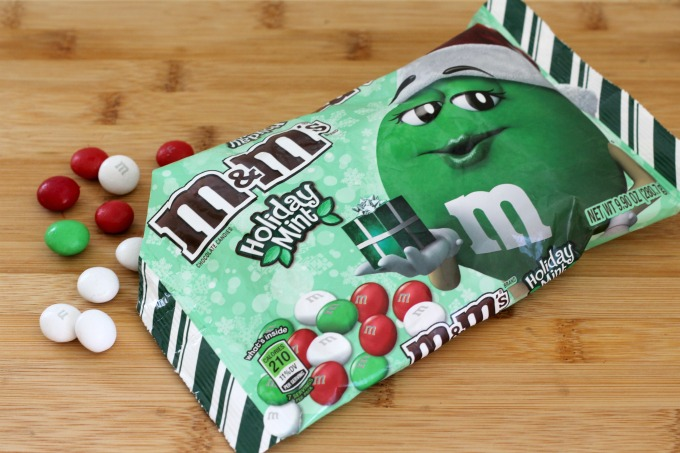 Holiday Mint M&M's are a main ingredient in these Christmas cookies