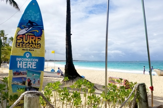 Surfing is another fun activity at Memories Splash Punta Cana