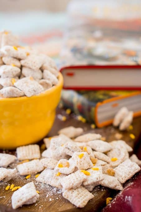 Butterbeer Muddy Buddies for a different kind of Harry Potter recipe