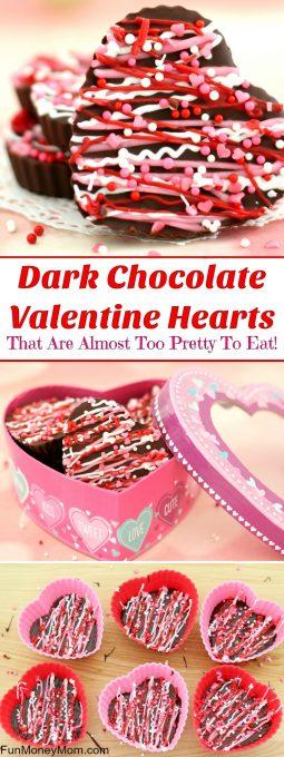 Dark Chocolate Valentine Hearts Pinterest