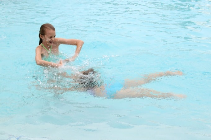 The pool is the perfect place for the kids to have some fun