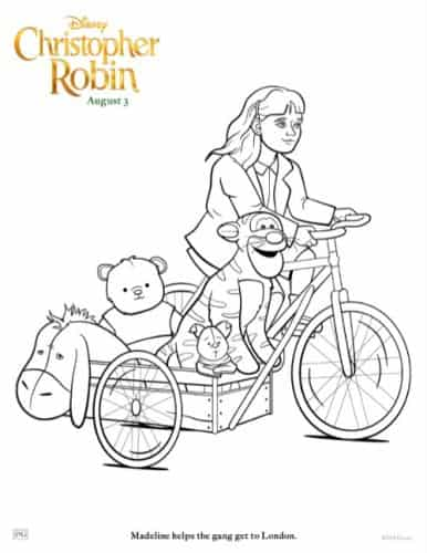 Madeline and Eeyore coloring pages