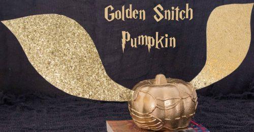 Golden snitch pumpkin facebook