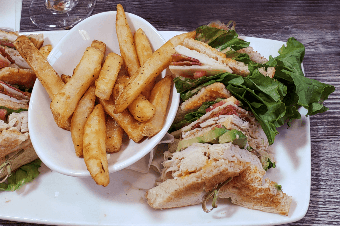 Club C.O.C. Sandwich at Clear Sky On Cleveland in Clearwater Florida