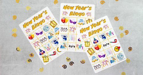 New Year's Eve Bingo For Facebook