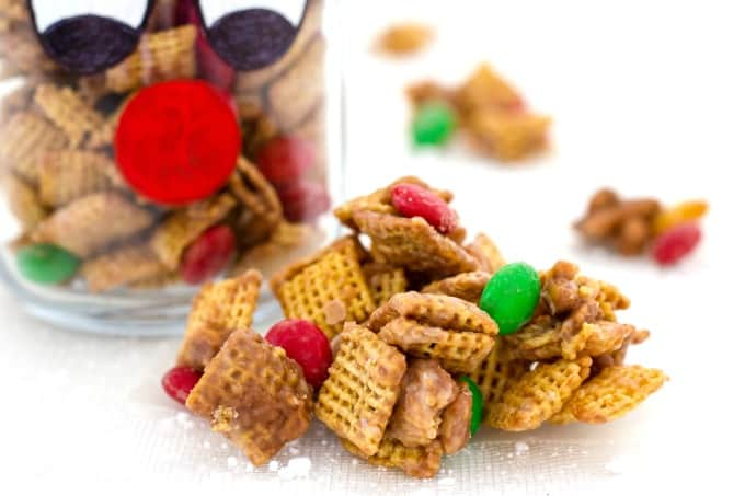 This Chex party mix is perfect for the holidays