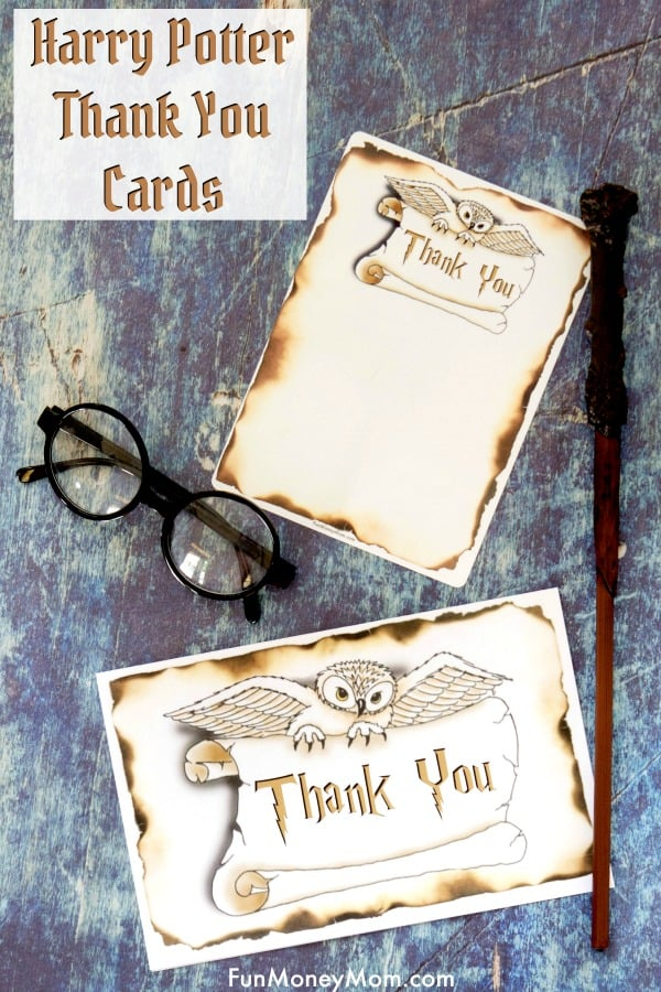 Harry Potter Thank You Cards Free Printables Fun Money Mom