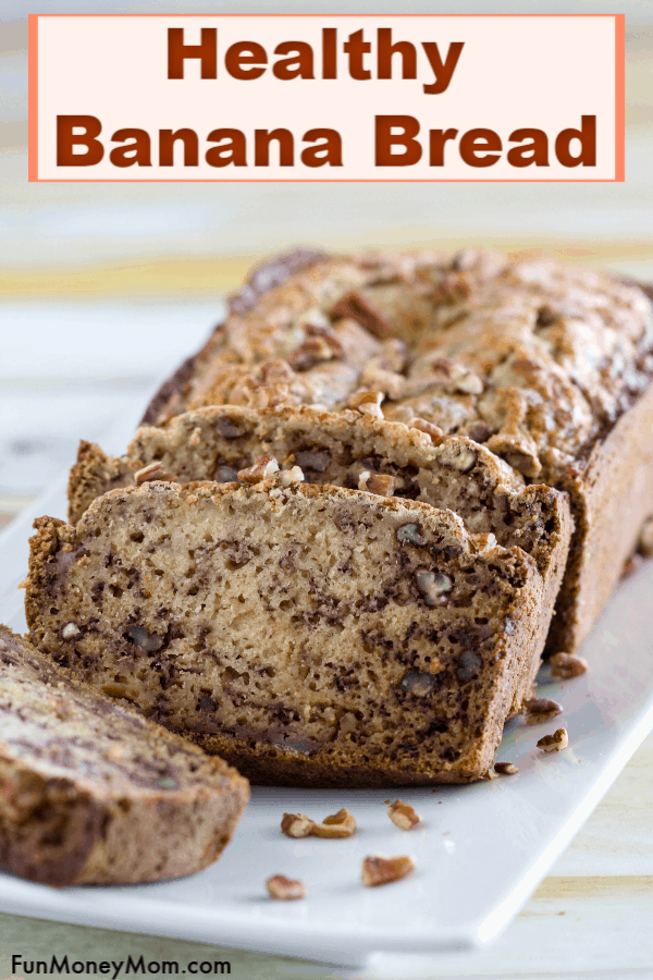 Healthy Banana Bread Recipe - Want the best banana bread recipe ever? This banana bread is actually good for you, though it tastes so delish that you'd never know the difference. This healthy banana bread will make you want to get out of bed in the morning! #ad #ResolutionsatWalmart #SplendaNaturals #IC #bananabread #healthybananabread #bananabreadrecipe #breakfast #breakfastrecipe