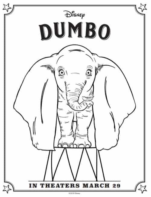 Dumbo coloring page 1