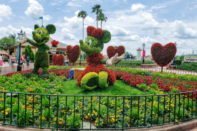 Mickey and Minnie Mouse at the Flower & Garden Festival