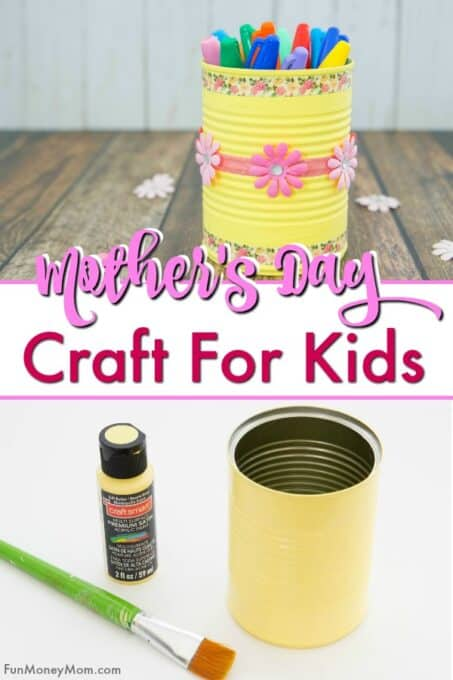 Mother's Day craft pencil can