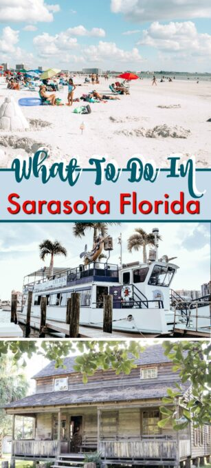 A beach and a boat in Sarasota Florida