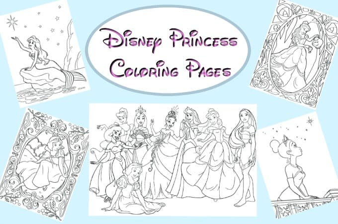 Disney Princess Coloring Page feature