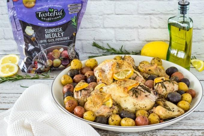 Lemon Rosemary Chicken on plate