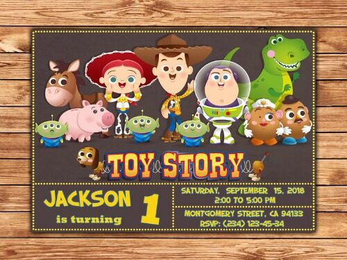 Toy Story Invitations 3