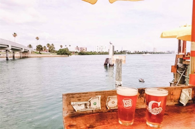 Beer at The Bait House In Clearwater Florida