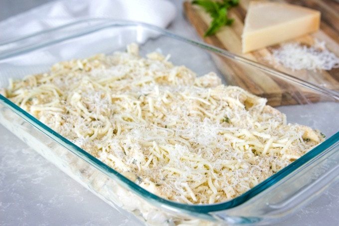 Adding cheese and breadcrumbs