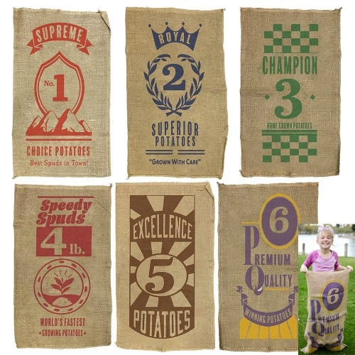 Sack races make one of the best outdoor games for kids
