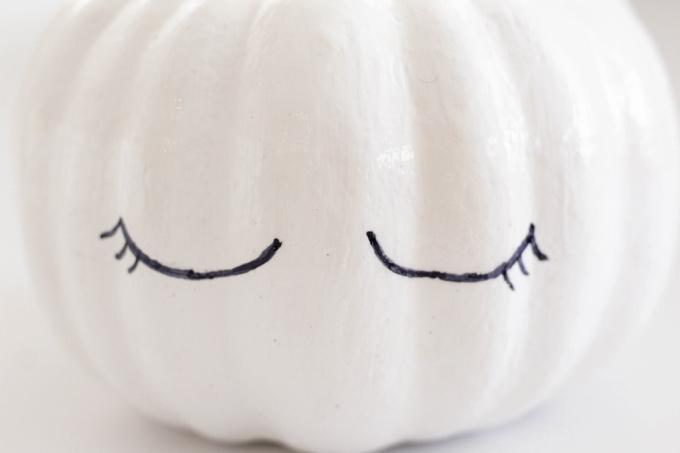 Unicorn eyes on pumpkin