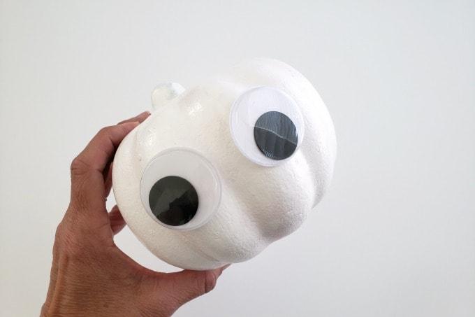 Wiggly eyes for mummy pumpkin