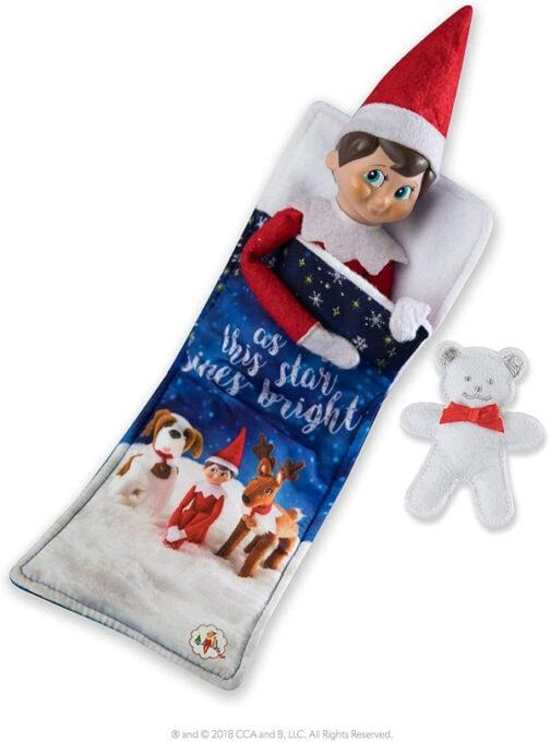 Elf on the shelf sleeping bag
