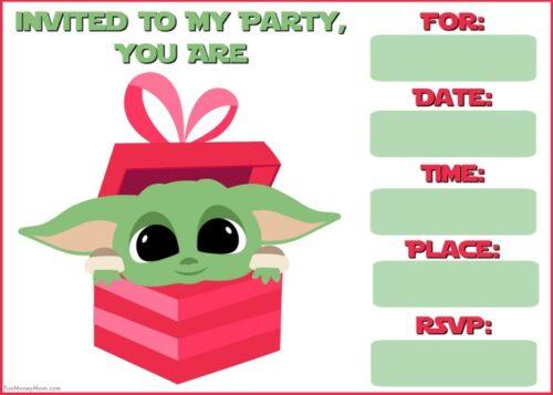 Baby Yoda in gift box