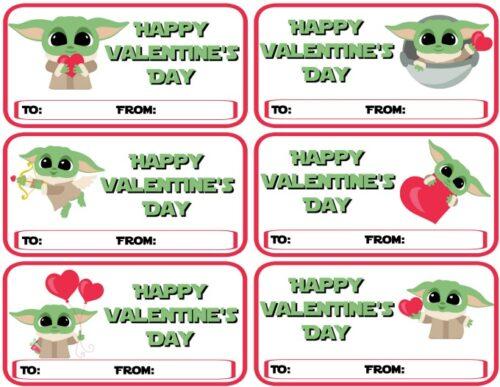 DIY Baby Yoda Valentines - Happy Valentine's Day