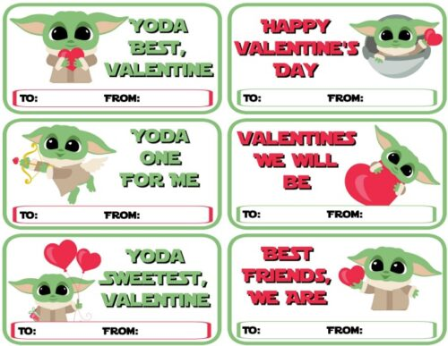Baby Yoda Valentines - Various