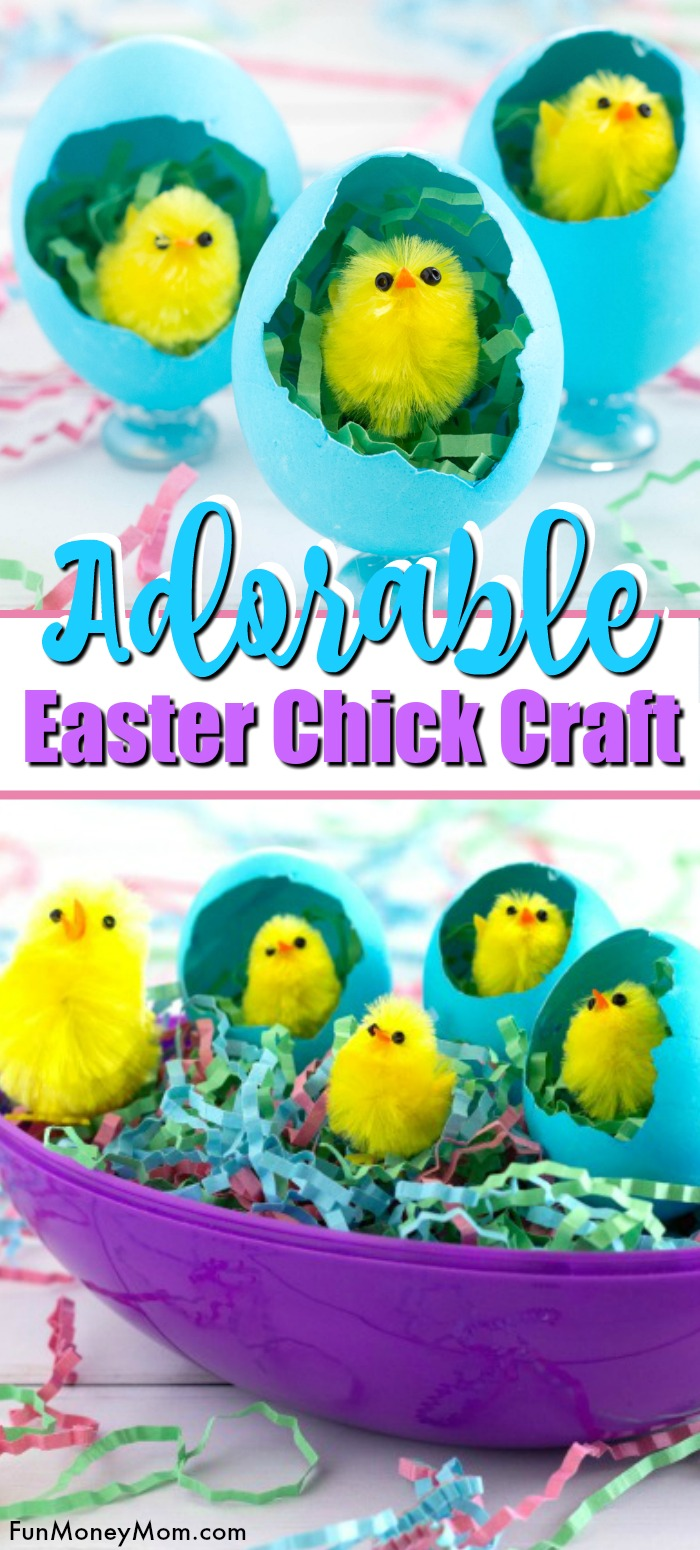 Easter Chick Craft Pin 1