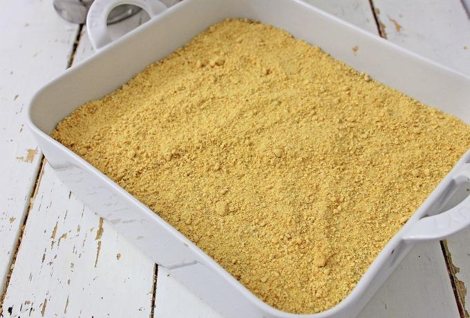 Graham cracker crumbs for s'mores brownies