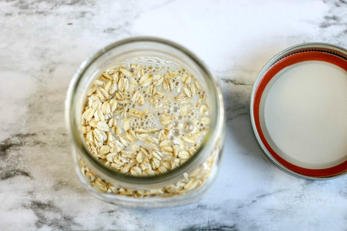 Rolled oats with milk