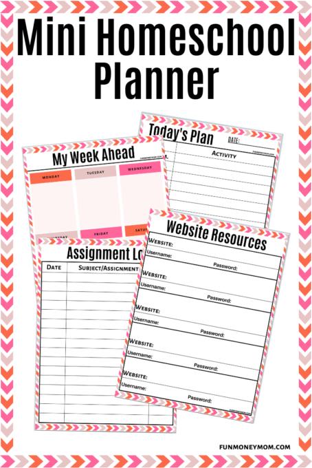 Homeschool Planner for pinterest