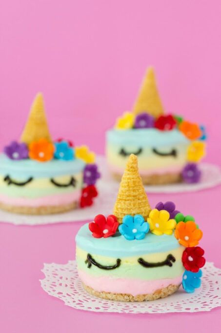 Unicorn cheesecake