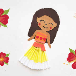 Moana paper doll feature